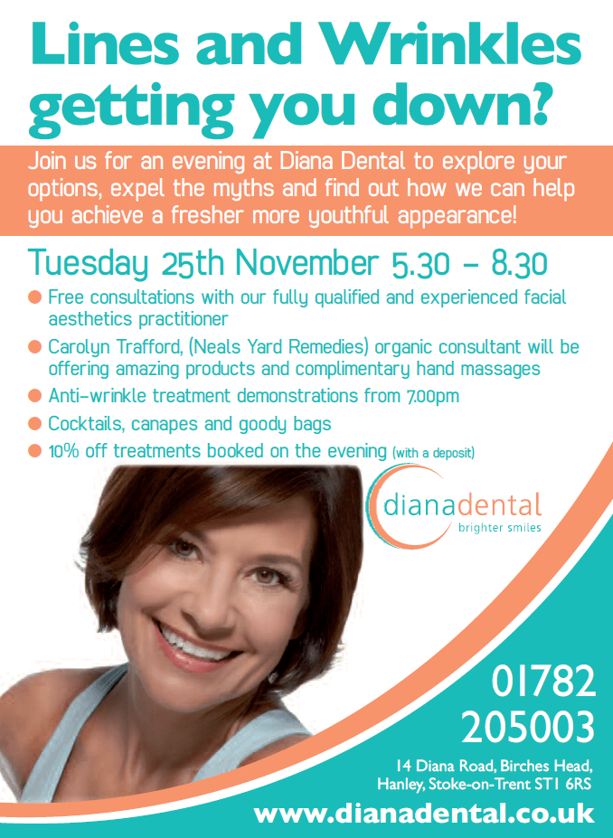 Anti-wrinkle treatments open evening